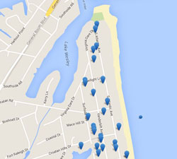 Map of Croatan Rentals