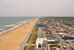 Virginia Beach from the air